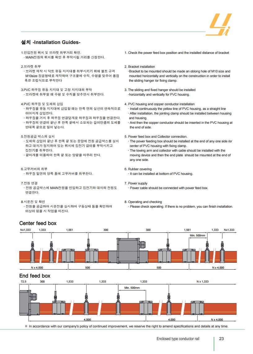 Công ty TNHH MTT Hàn Quốc Ray điện hộp vuông MCL - Conductor rails (MCL Type)