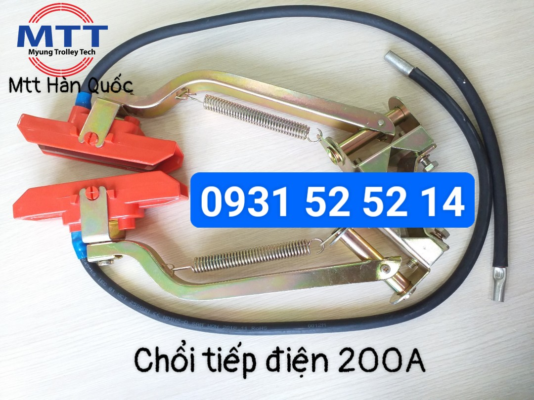 Công ty TNHH MTT Hàn Quốc Chổi tiếp điện cầu trục 200A Hàn Quốc