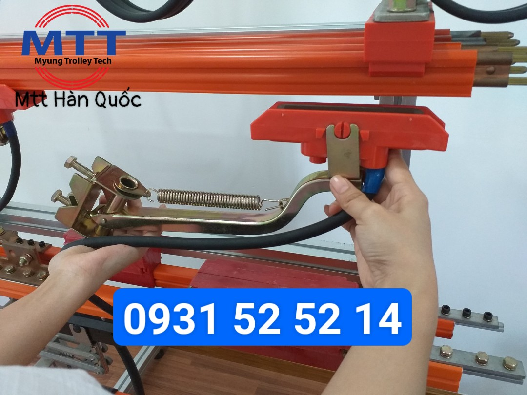 Công ty TNHH MTT Hàn Quốc Chổi tiếp điện cầu trục 90A Hàn Quốc