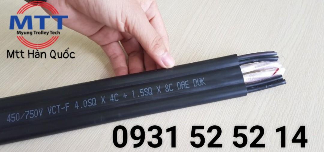 Công ty TNHH MTT Hàn Quốc Cáp dẹt cầu trục 4SQx4C+1.5SQx8C