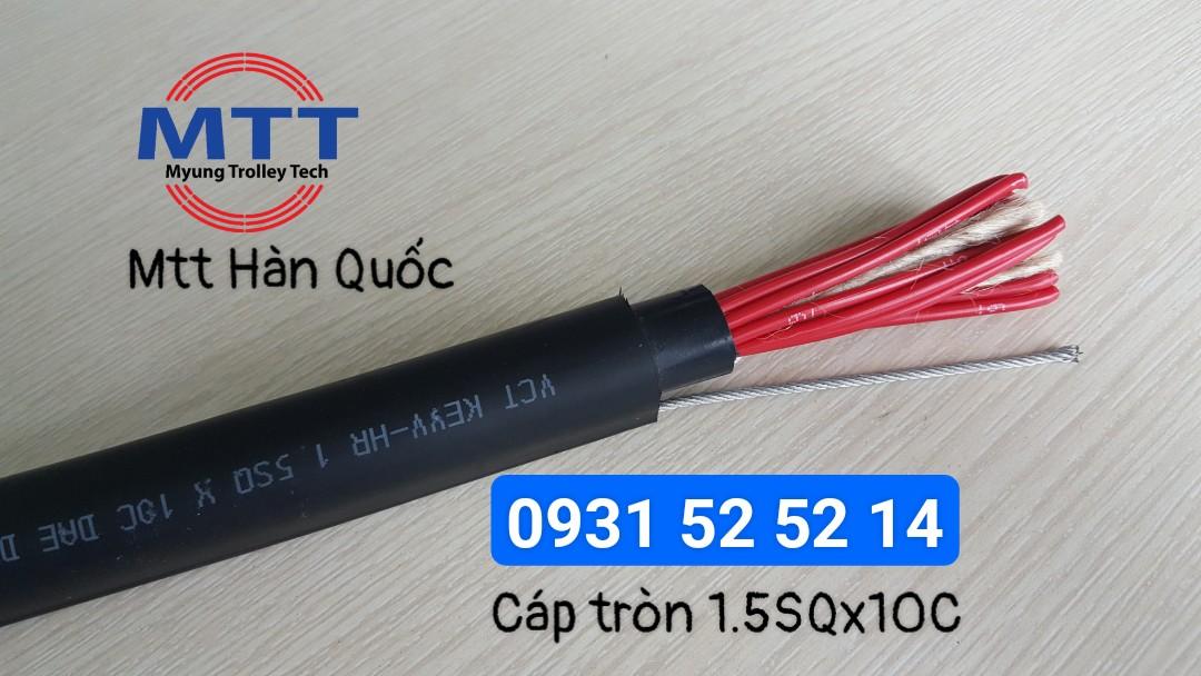 Công ty TNHH MTT Hàn Quốc Cáp tròn điều khiển 1.5SQx10C cầu trục